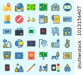 icons about travel with route ... | Shutterstock .eps vector #1013156407