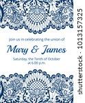 wedding invitation template... | Shutterstock .eps vector #1013157325