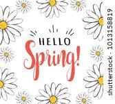 hello spring. hello spring... | Shutterstock .eps vector #1013158819