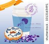 gourmet donut meal. fruit donut ...   Shutterstock .eps vector #1013165491