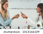 homeopathy. woman visiting a... | Shutterstock . vector #1013166109