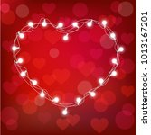 realistic st. valentine's... | Shutterstock .eps vector #1013167201
