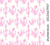 seamless vector pattern with... | Shutterstock .eps vector #1013167957