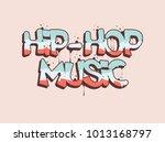 Hip Hop Music Illustration In...