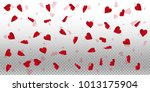 3d hearts. wide scatter on... | Shutterstock .eps vector #1013175904