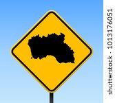santa maria island map road... | Shutterstock .eps vector #1013176051