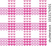 seamless pattern with pink... | Shutterstock . vector #1013176501