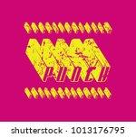 decorative italic sans serif... | Shutterstock .eps vector #1013176795