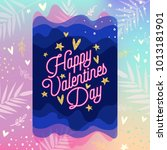 valentine's day poster. happy... | Shutterstock .eps vector #1013181901