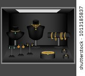 jewelry showcase  jewelry... | Shutterstock .eps vector #1013185837