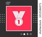 medal symbol icon | Shutterstock .eps vector #1013186071