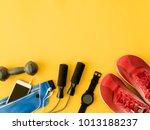 top view sport wear concept... | Shutterstock . vector #1013188237