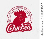 chicken logo  label  print ... | Shutterstock . vector #1013191567