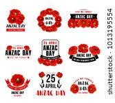 anzac day 25 april australian... | Shutterstock .eps vector #1013195554