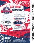 soccer club league match game... | Shutterstock .eps vector #1013195581