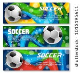 soccer banners background... | Shutterstock .eps vector #1013195611