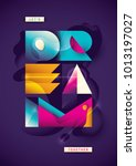 poster design with abstract... | Shutterstock .eps vector #1013197027