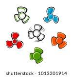 propeller set on a white... | Shutterstock .eps vector #1013201914