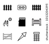panel icons. set of 9 editable...   Shutterstock .eps vector #1013204395