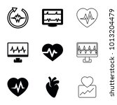 cardiology icons. set of 9... | Shutterstock .eps vector #1013204479