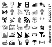wireless icons. set of 36... | Shutterstock .eps vector #1013207917