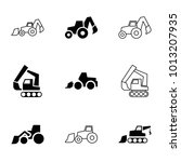 excavation icons. set of 9... | Shutterstock .eps vector #1013207935