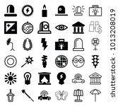 light icons. set of 36 editable ... | Shutterstock .eps vector #1013208019