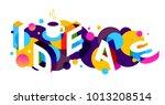 creative idea concept with... | Shutterstock .eps vector #1013208514