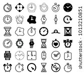timer icons. set of 36 editable ... | Shutterstock .eps vector #1013210851