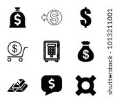 wealth icons. set of 9 editable ... | Shutterstock .eps vector #1013211001