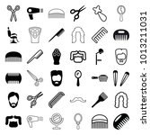 barber icons. set of 36... | Shutterstock .eps vector #1013211031