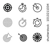 accurate icons. set of 9...   Shutterstock .eps vector #1013211034
