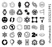 circle icons. set of 36... | Shutterstock .eps vector #1013211991