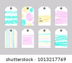 collection of cute gift tags.... | Shutterstock .eps vector #1013217769