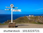 land's end area  england   uk   ... | Shutterstock . vector #1013223721