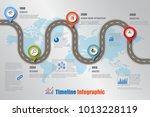 business road map timeline... | Shutterstock .eps vector #1013228119