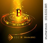 bitcoin symbol and price chart. ... | Shutterstock .eps vector #1013232385