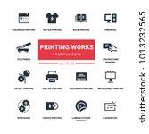 printing works   line design... | Shutterstock .eps vector #1013232565