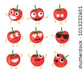funny tomato   vector isolated... | Shutterstock .eps vector #1013232601