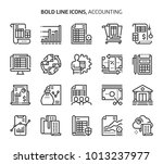 accounting  bold line icons.... | Shutterstock .eps vector #1013237977