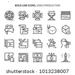 video production  bold line... | Shutterstock .eps vector #1013238007