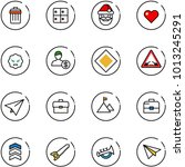 line vector icon set   trash... | Shutterstock .eps vector #1013245291