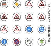 line vector icon set   sign... | Shutterstock .eps vector #1013247499