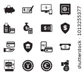 solid black vector icon set  ... | Shutterstock .eps vector #1013255377