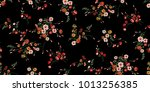 seamless ditsy floral pattern | Shutterstock .eps vector #1013256385