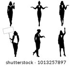 vector illustration of six... | Shutterstock .eps vector #1013257897