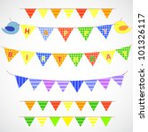 vector bunting and garland set | Shutterstock .eps vector #101326117