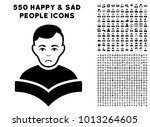 dolor student pictograph with... | Shutterstock .eps vector #1013264605