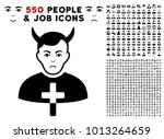 sadly satan priest pictograph...   Shutterstock .eps vector #1013264659