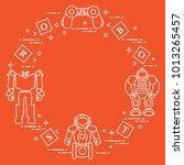 toys for children  robots ... | Shutterstock .eps vector #1013265457